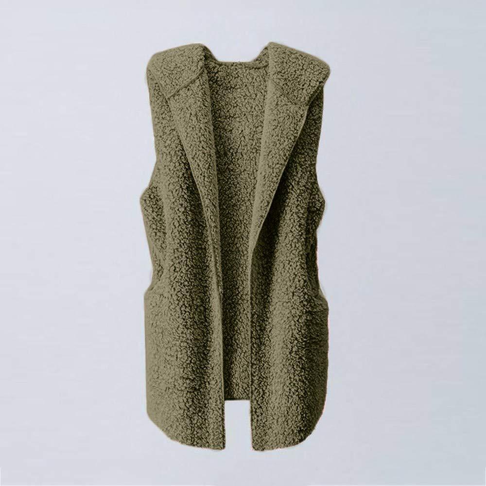 Amazon.com: Xinantime - Chaleco con capucha para mujer ...
