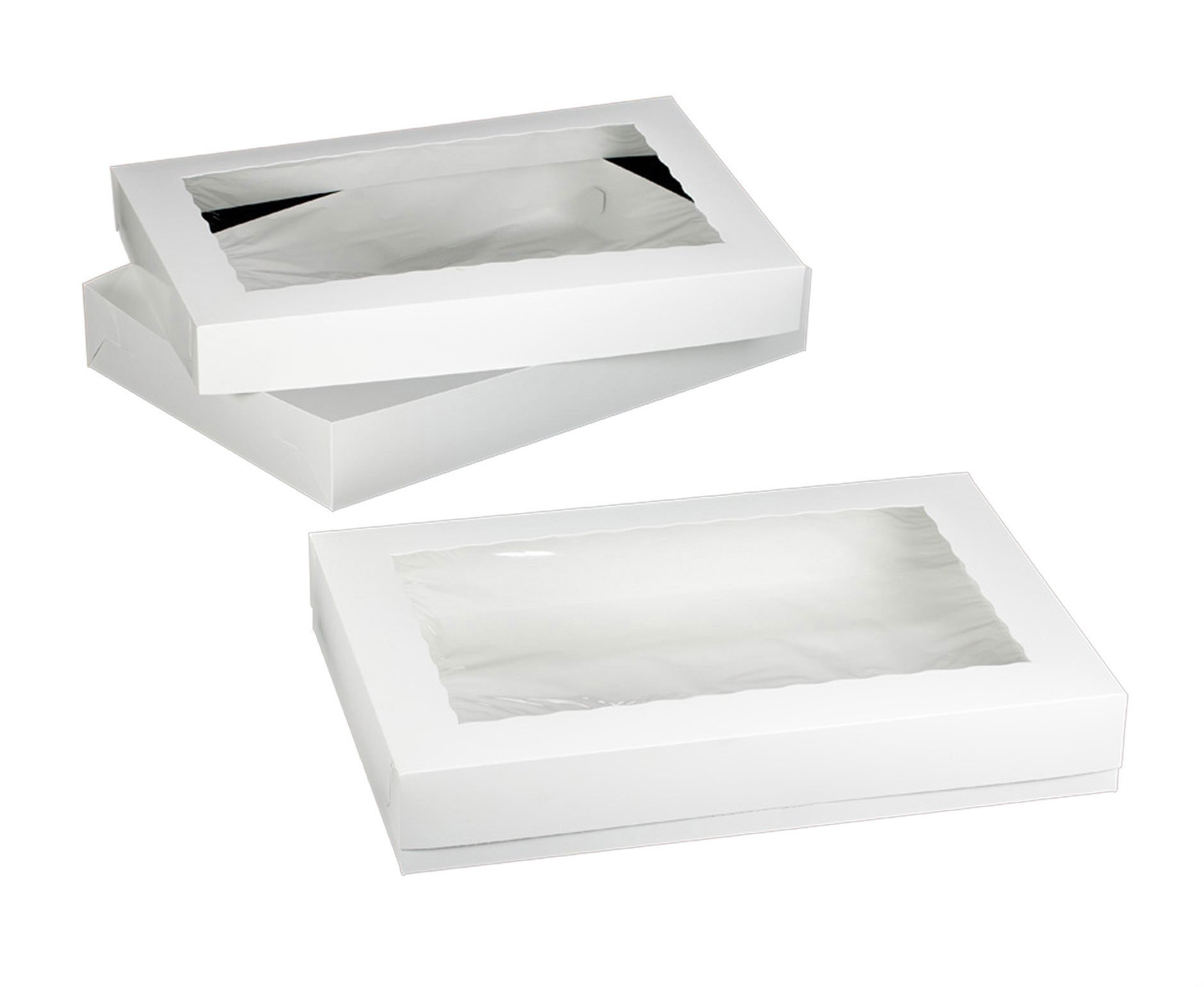 Dress My Cupcake Window Cupcake Box with Holder for 36 Standard Cupcakes, White, Set of 100
