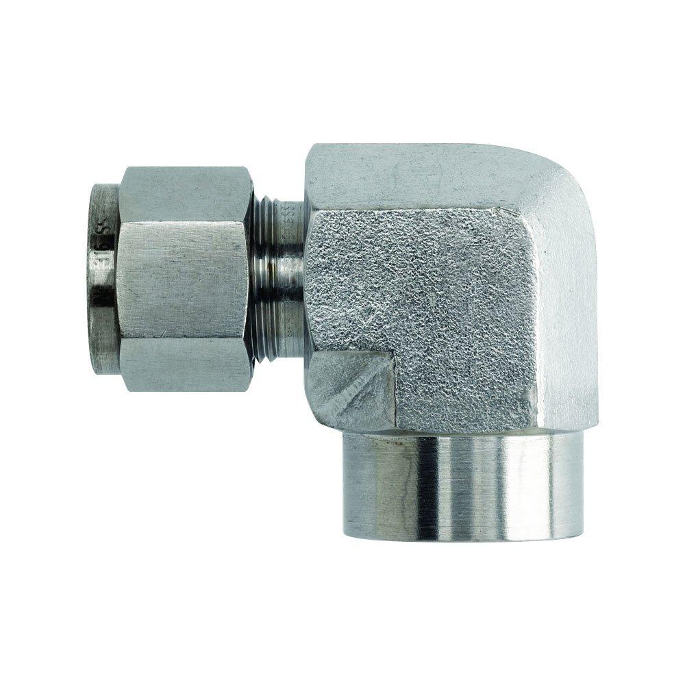 Merit Brass TF601-0402 1//4 x 1//8 316 Female Elbow Tube x Female Npt
