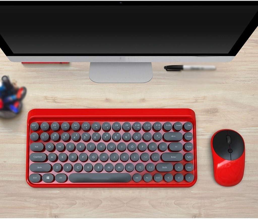 Keyboard Mouse Home Electronic Office Computer Notebook Mute Wireless USB Round Key Keyboard Lightweight Portable Desktop Computer Set