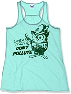 product image for Hank Player U.S.A. Official Woodsy Owl Women's Draped Racer Tank