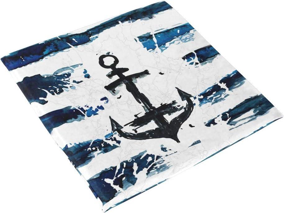 linomo Nautisch Anker Marine Blau Memory Foam Stuhlkissen Sitzkissen f/ür Kinder 40 x 40 cm
