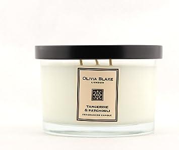 Olivia Blake London Fragranced Candle Large Triple Wick Made In Uk Tangerine Patchouli Amazon Ca Beauty