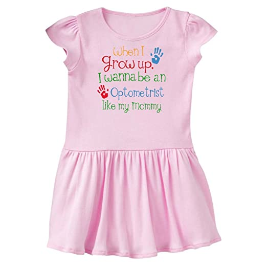 743bbc276e6 inktastic - Optometrist Like Mommy Toddler Dress 2T Ballerina Pink 24af8