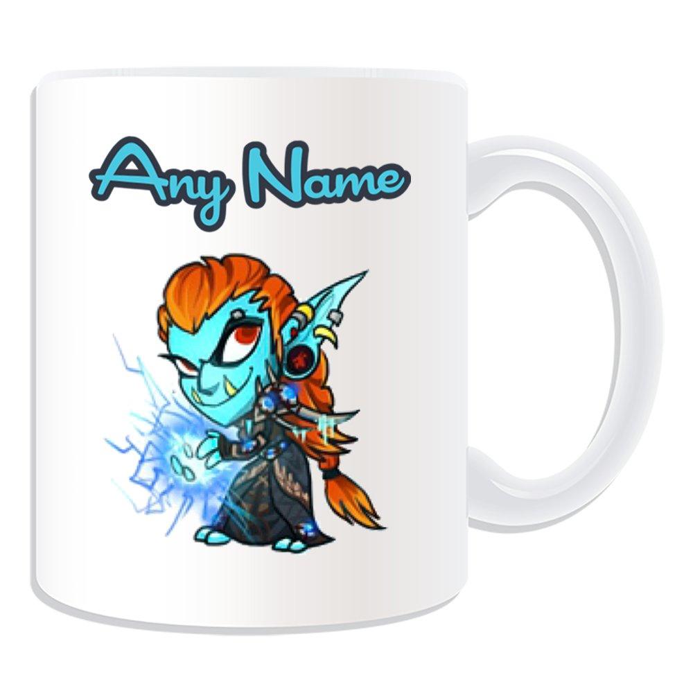 Personalised Gift - Troll Mage Mug (MMORPG Design Theme