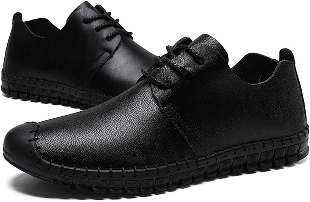 Men's Casual Leather Shoelaces Loafers
