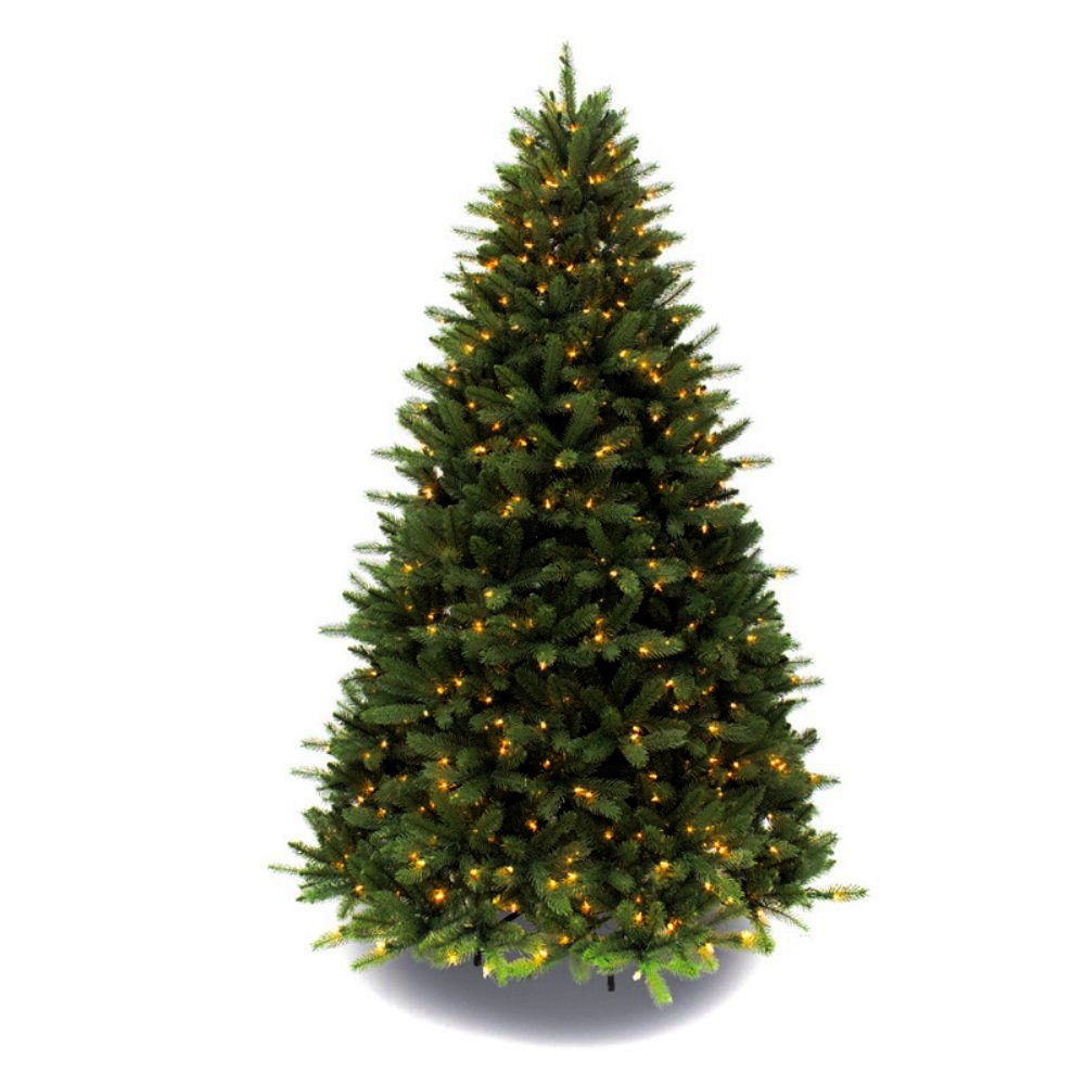 Artificial Christmas Tree. Fake 7.5 Foot Xmas Green Fir Tree With Densely, Lush Foliage. It's Classic Pine Shape Looks Neat & Natural. Great For Indoor, Holiday Season Party Decor & Festive Mood.