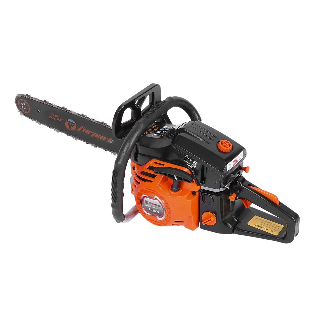 Topclouds Gas Chainsaw 20 Inch 2 Cycle 3.2HP 58CC Automatic Chain Oiler Household Great Handbar Electric Chain Saws