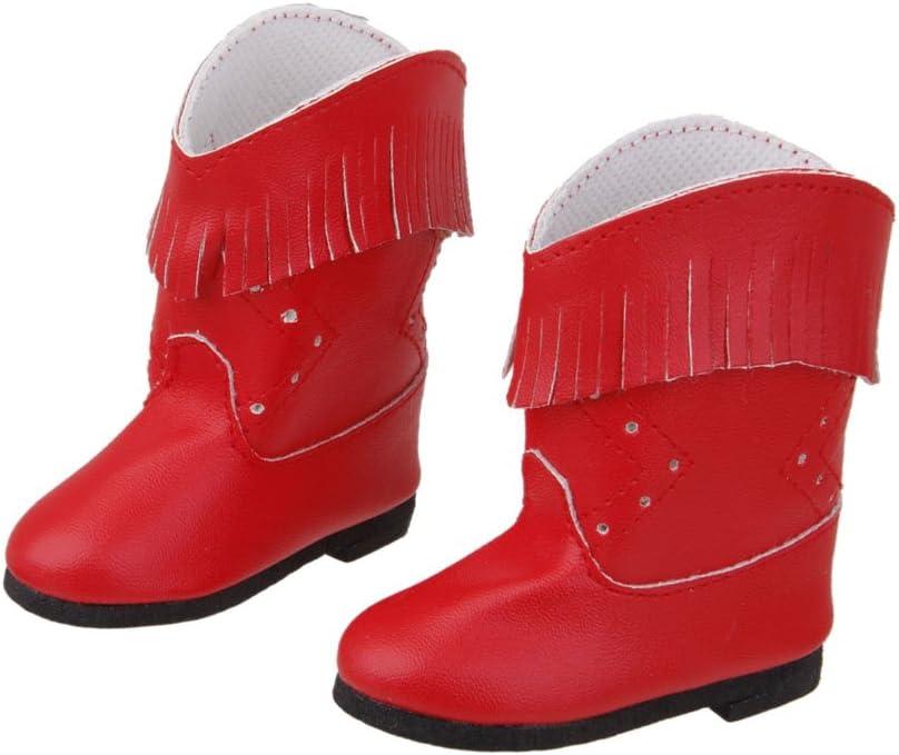 8 X 8cm Stiefel F/ür 18 Zoll Puppen Winter Kost/üm Zubeh/ör P Prettyia Mode Puppen Schuhe Rot 01 Winterstiefel