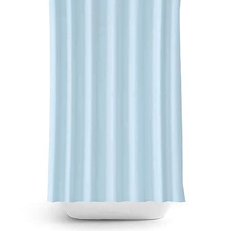 Tropik Home Narrow Width Extra Long Sky Blue Bathroom Fabric Shower Curtain 90cm Wide X