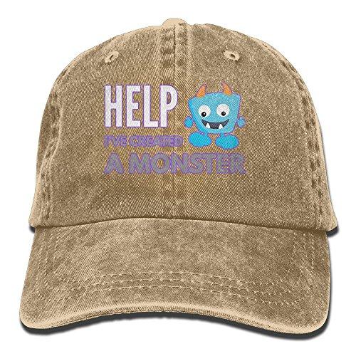 Help I've Created A Monster Vintage Jeans Baseball Cap For Men And - Monster Hat Trucker Energy