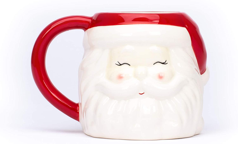 Grande Tazza in Ceramica per la Colazione o da Te a Tema Natalizio Tri/_Coastal Design