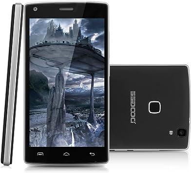 Doogee X5 Max Pro - 4G Smartphone Libre Android 6.0 (Pantalla 5.0 Ips, Mt6737M Quad Core 1.3Ghz, 2G Ram, 16G Rom, Dual Sim, Dual Id, Smart Wake, Huella Dactilar) (Negro): Amazon.es: Electrónica