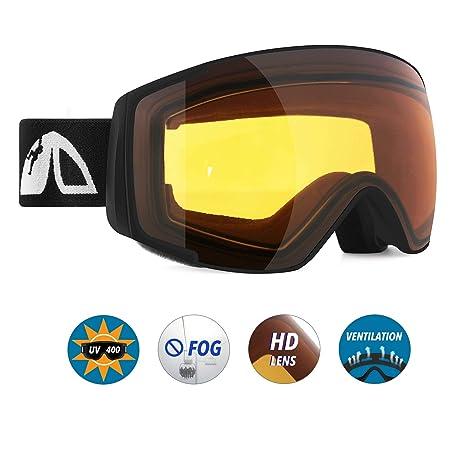035b5a642b9c Amazon.com   Unigear Skido X2 Kids Ski Goggles