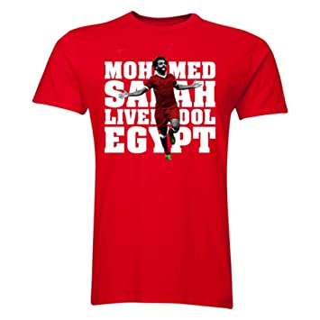 low priced 5fdb8 c48d7 UKSoccershop Mohamed Salah Liverpool Player T-Shirt (Red ...