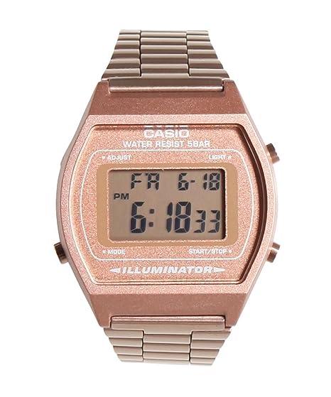 Amazon.com: Casio Classic b640wc-5 a Rose reloj de oro ...