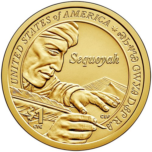 2017 S Proof Sequoyah Sacagawea Native American Dollar Choice Uncirculated US Mint