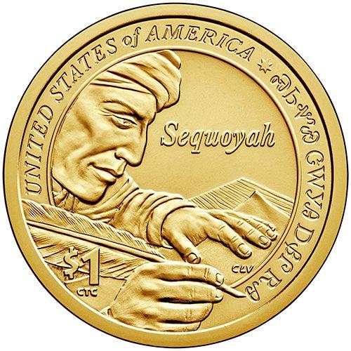 2017 S Proof Sequoyah Sacagawea Native American Dollar Choice Uncirculated US Mint