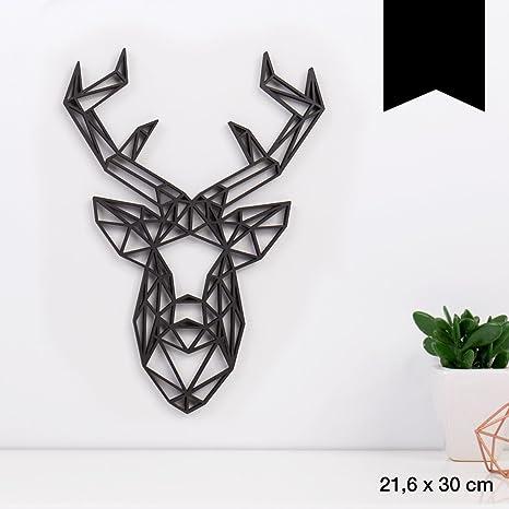 Amazon.de: KLEINLAUT 3D Origamis Aus Holz   Wähle Ein Motiv U0026 Farbe    Hirschkopf   21, 6 X 30 Cm (L)