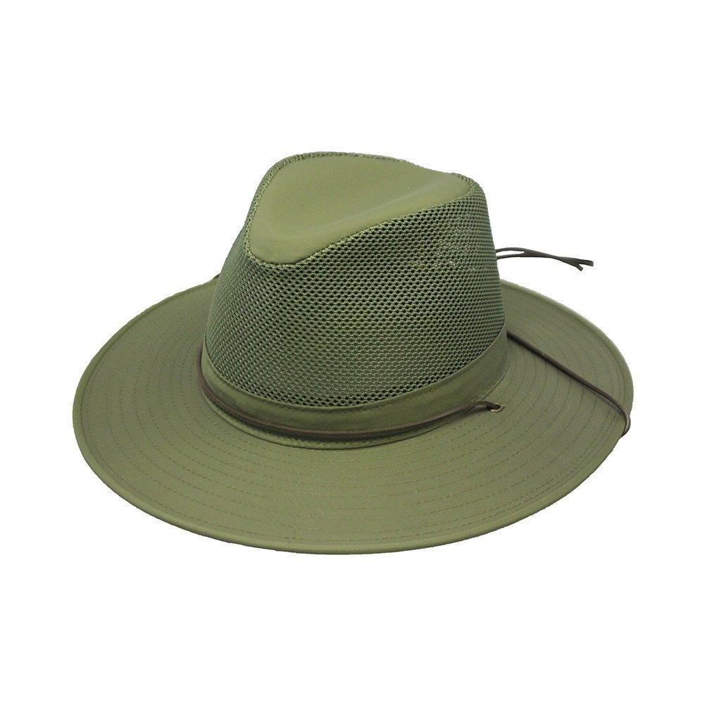 Henschel Hats Aussie Breezer 5320 Firm Mesh Olive Hat, Medium