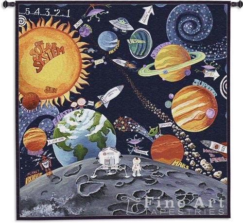 Fine Art Tapestries ''Solar System'' Wall Tapestry by Fine Art Tapestries