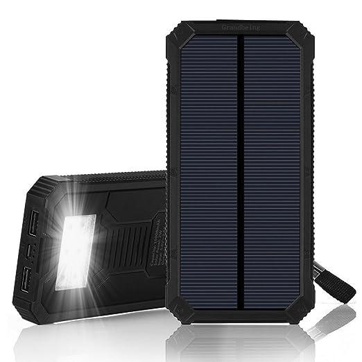 148 opinioni per 15000mah Caricabatterie Solare Portatile per Smartphone con 2 Porte USB 5V
