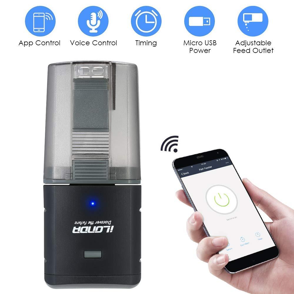 Dispensador automático de Alimentos para Acuario compatible con alexa