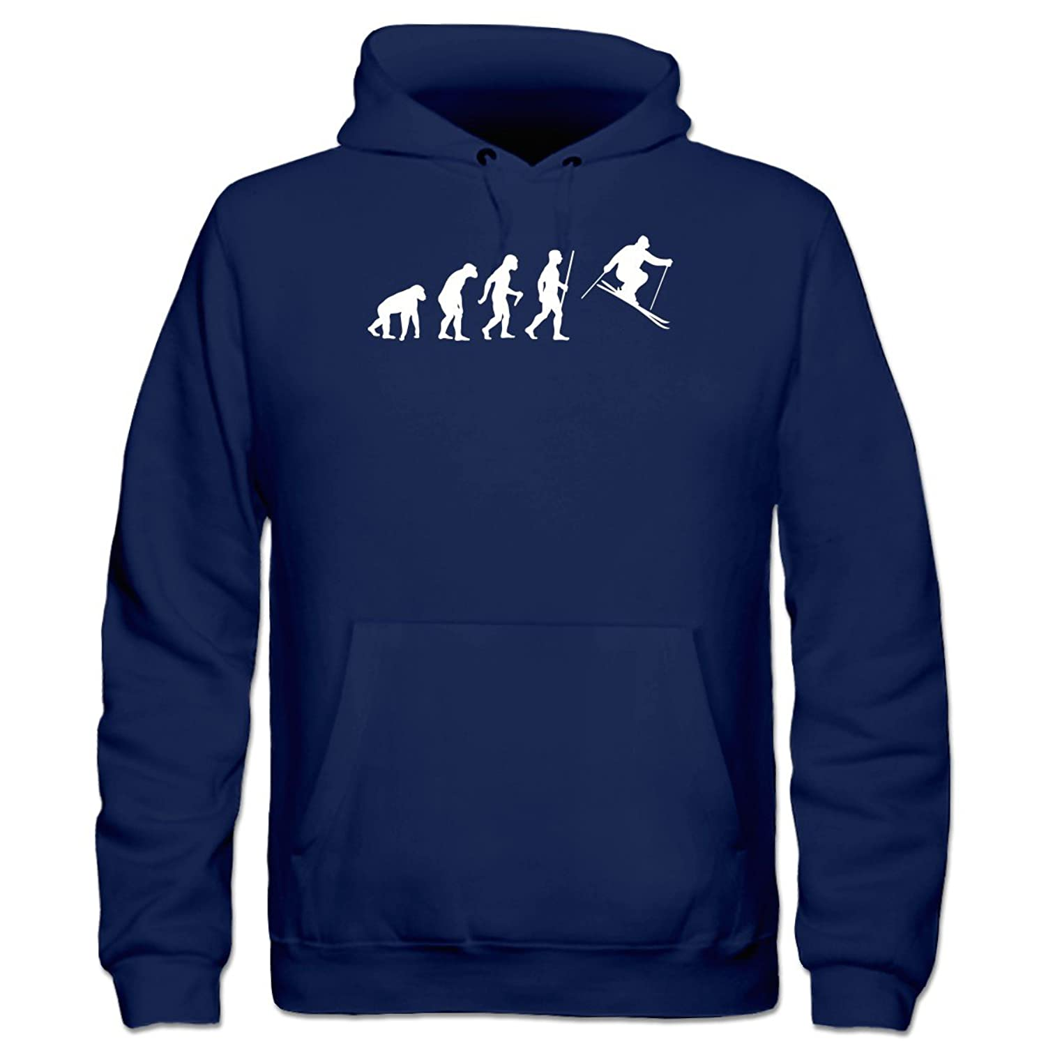 Ski Evolution Humor Kinder Kapuzenpulli by Shirtcity