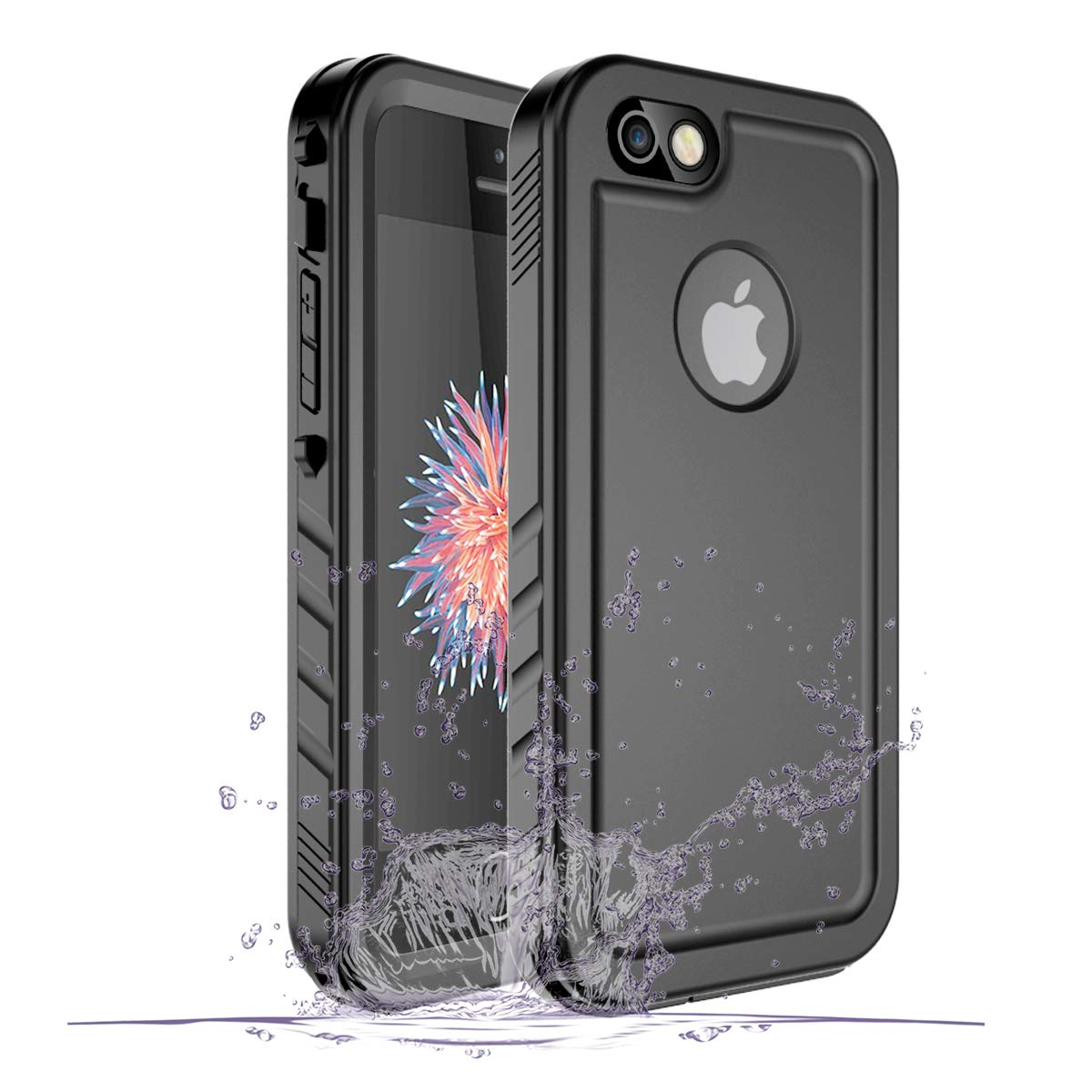 promo code e40d2 24865 iPhone SE/5/5S Waterproof Case, Waterproof iPhone SE Shockproof Full-Body  Rugged Cover Case with Built-in Screen Protector for Apple iPhone SE/5/5S  ...