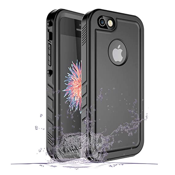 promo code 9c014 5a995 iPhone SE/5/5S Waterproof Case, Waterproof iPhone SE Shockproof Full-Body  Rugged Cover Case with Built-in Screen Protector for Apple iPhone SE/5/5S  ...