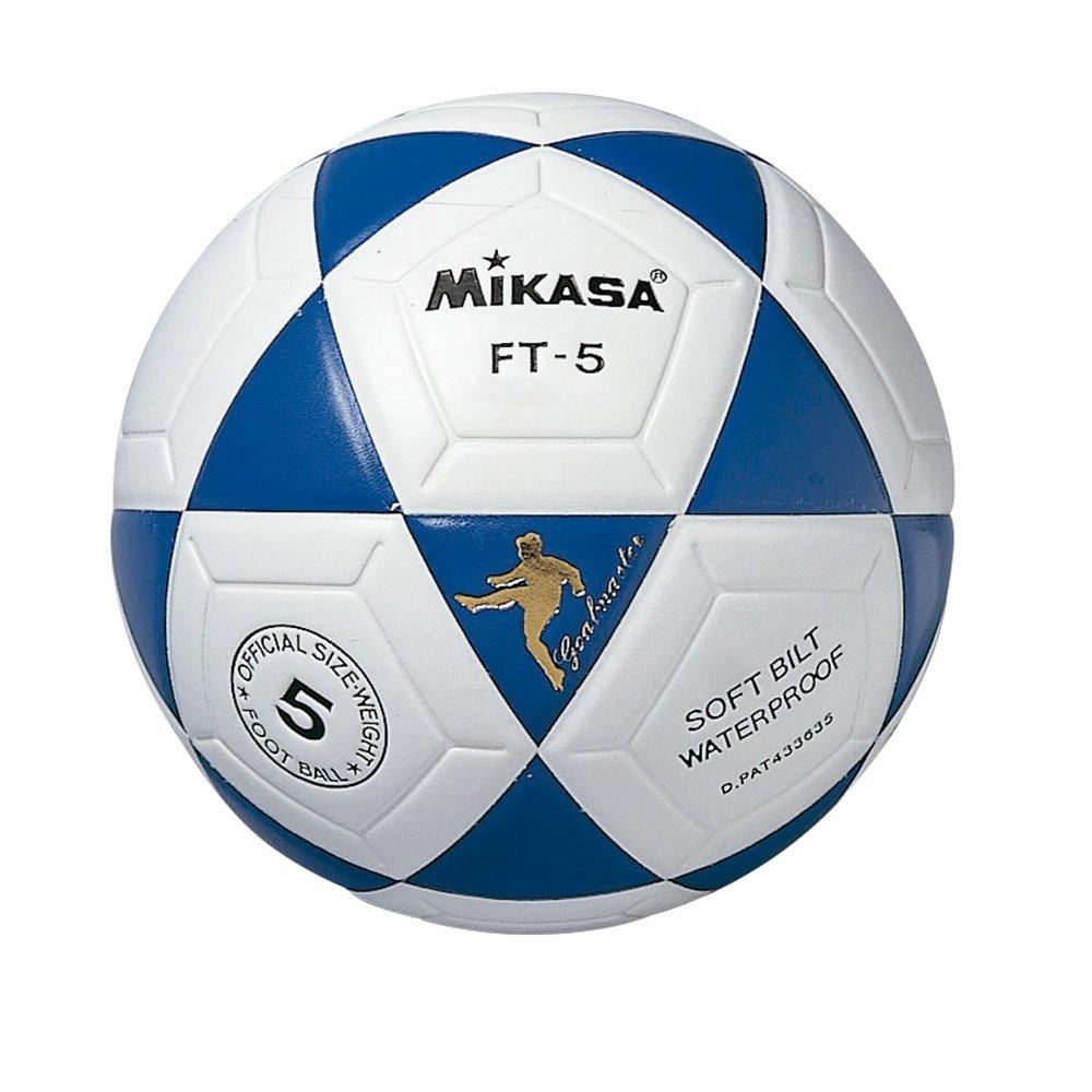 Mikasa FT5 Ballon de Football thermoscellé Blanc/Bleu MIKCG|#Mikasa FT-5