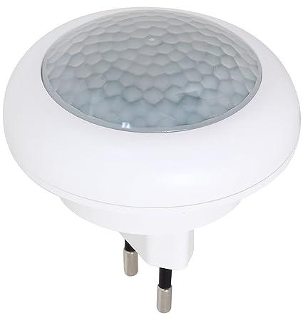 luz nocturna LED con detector de movimiento para enchufe lámpara luz de emergencia 2 LED