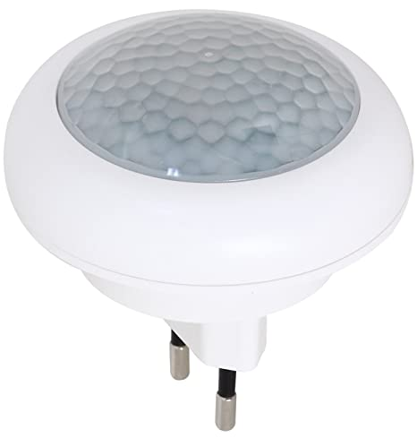 luz nocturna LED con detector de movimiento para enchufe lámpara luz de emergencia 2 LED
