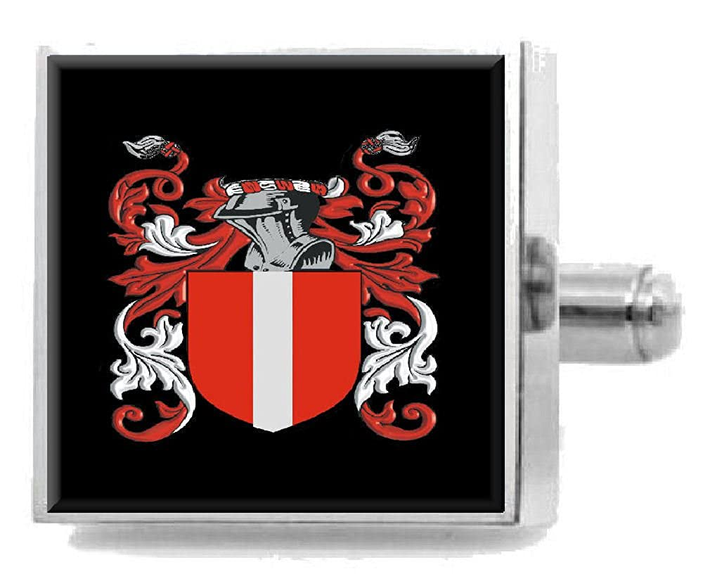 Select Gifts Macguire Ireland Family Crest Surname Coat Of Arms Cufflinks Personalised Case