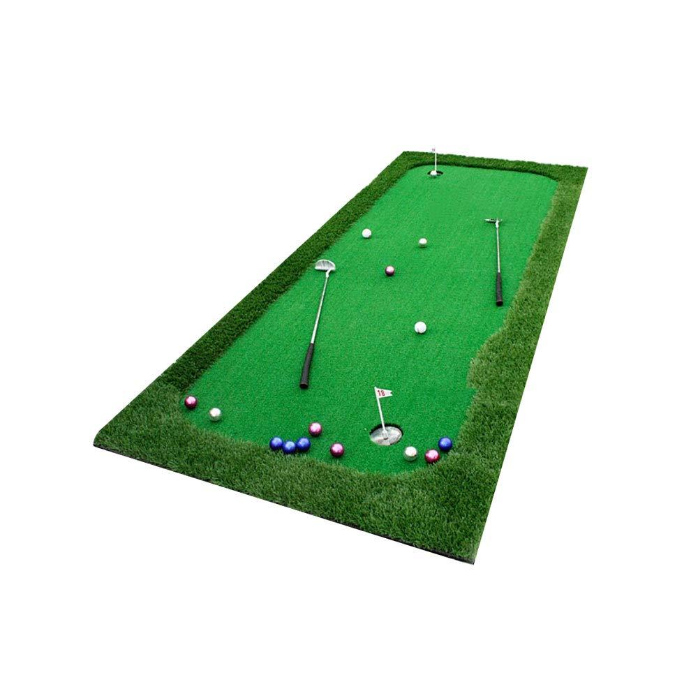 ZHANGQI ゴルフトレーナーグリーン - オフィス練習ブランケット - プッシャー付きパットトレーナーサイズ:120x300cm