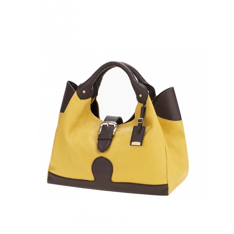 4be38e788649 Ismachseven Mercedes Handbag -Caramel brown with dark brown ...