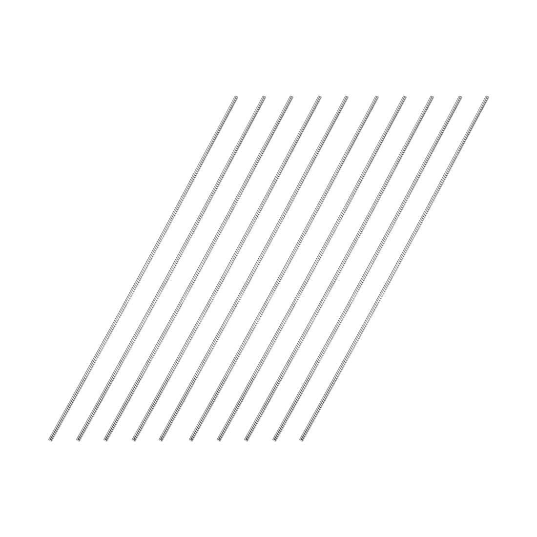 10pcs uxcell 1.5mm x 250mm 304 Stainless Steel Solid Round Rod for DIY Craft
