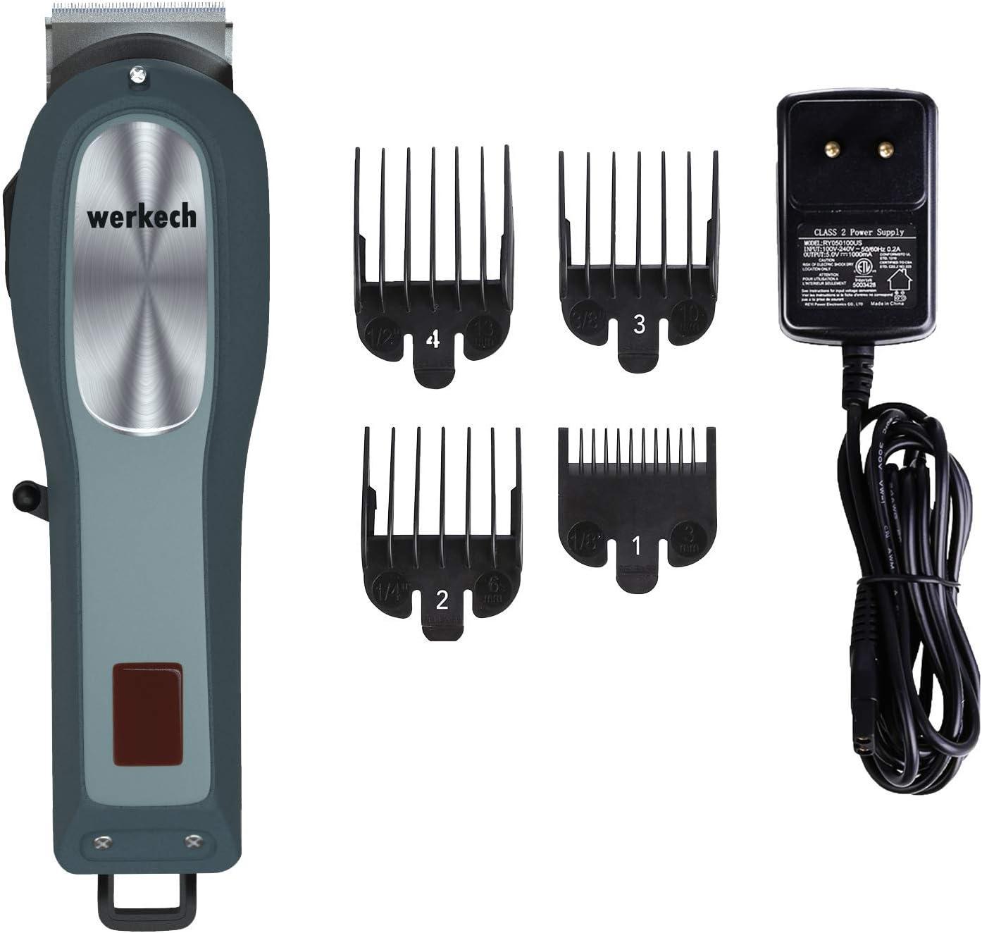Werkech Y3: Máquina de cortar el pelo profesional. Cortapelos sin ...