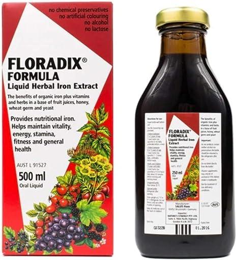 Floradix Liquid Iron Vitamin Formula 500ml Amazon Co Uk Health Personal Care