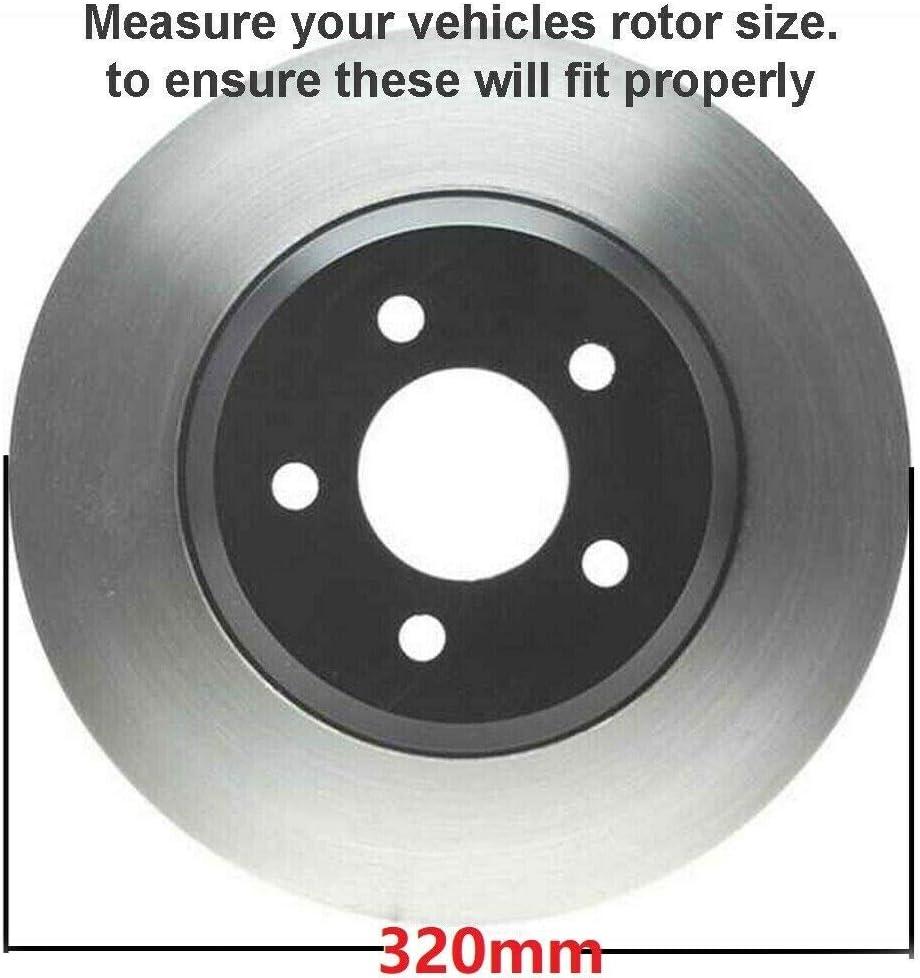 2015 2016 for Hyundai Sonata Front /& Rear Brake Rotors /& Pads 320mm Rotor