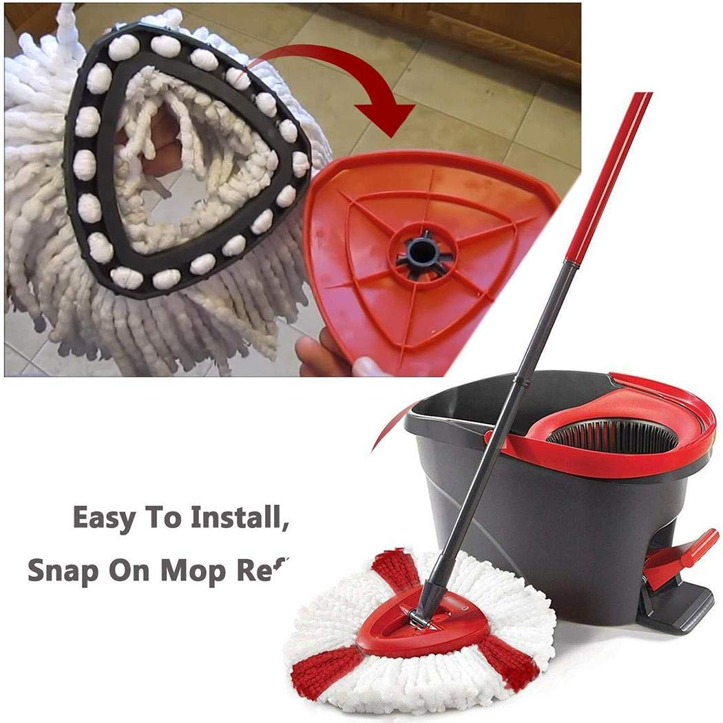 Nabsna Durable Washable Soft Spin Mop Refill Home Mop Head Steam Mops
