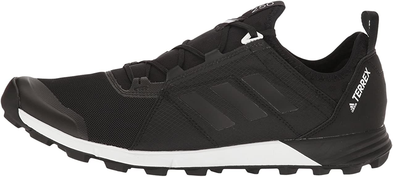 derrota tanque Confirmación  Amazon.com | Adidas Mens Terrex Agravic Speed Trail Running Shoe,  Black/Black/White, US 11.5 M | Trail Running