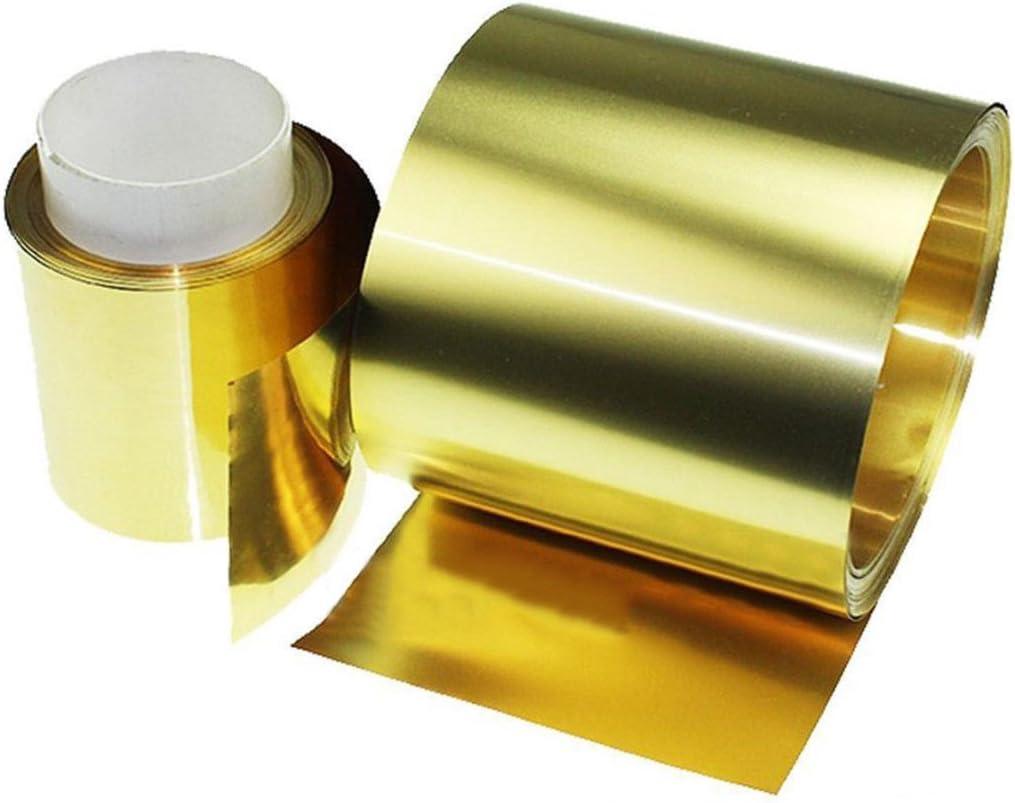Messing Dünnen Blech 0.02x100x1000mm Messingplatte Messingfolie Zuschnitte