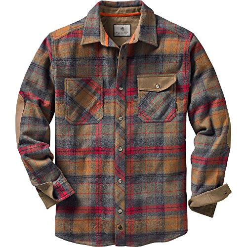 Legendary Whitetails Men's Harbor Heavyweight Woven Shirt Smokey Mountain Small (Mountain Big Shirt)