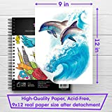 "Artisto 9x12"" Premium Sketch Book Set, Spiral"