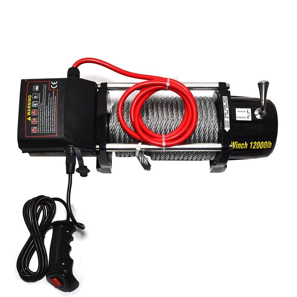 Micropower 12.000 kg cabrestante de recuperación (Combo Kit eléctrico 12 V ATV UTV nieve barco remolque camión SUV Jeep Plow Off Road: Amazon.es: Coche y ...