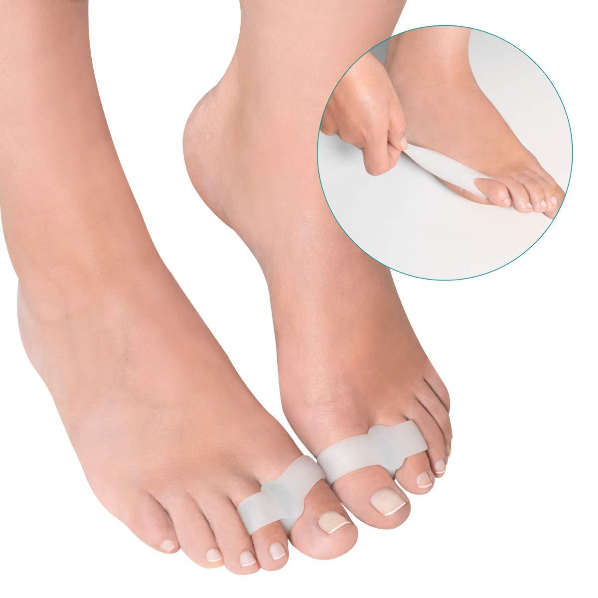 Navaris Separador para dedos del pie - Corrector ortopédico de juanetes y Hallux Valgus - 8 Correctores de gel silicona para aliviar el dolor de pies: ...