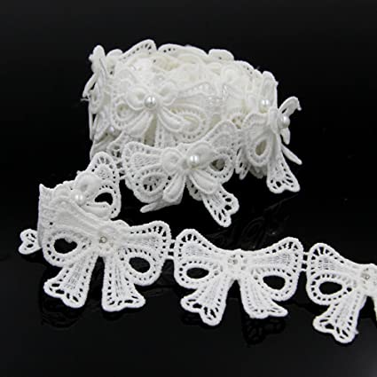 2 x Floral lace Applique decorative sewing lace motifs 8 different colours #4