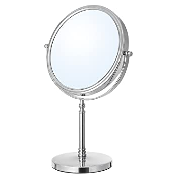 Nipole Beauty Table Mirror U0026 Double Sided Normal And Magnifying Stand Mirror  7 Inch Magnifying