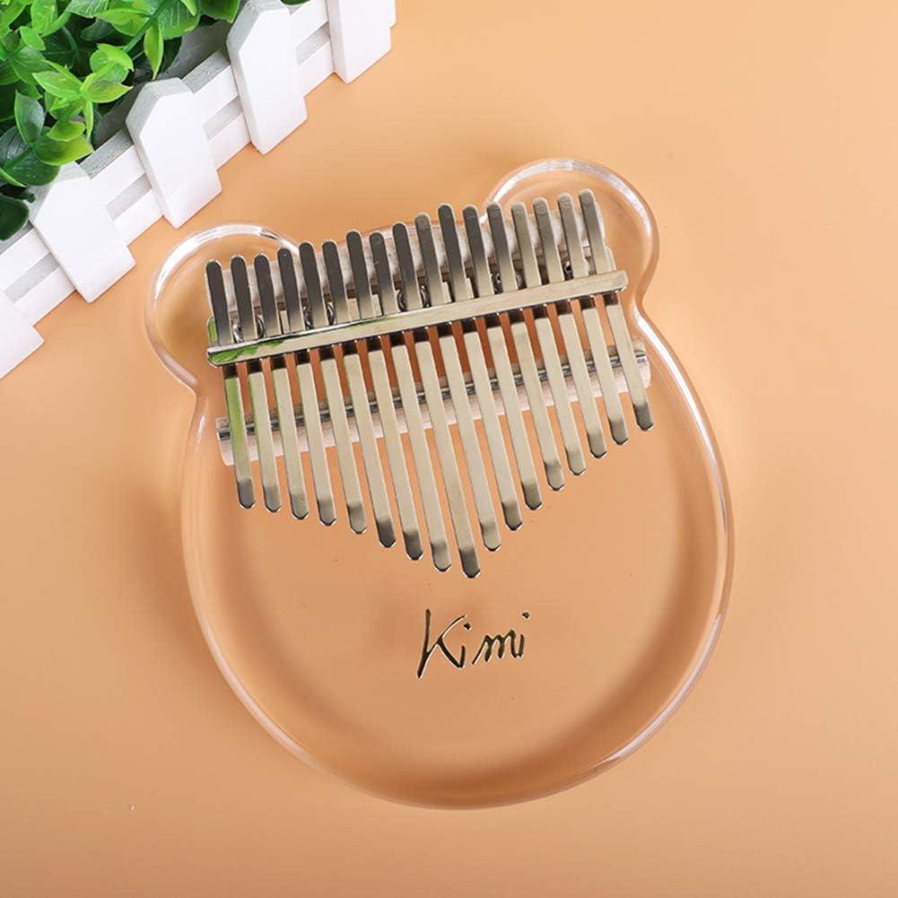 AKDSteel Kimi KA-LIM-ba Acry-LIC Thumb Piano 17 Keys with Tuner Ham-Mer Gig Bag